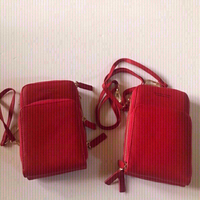 Used Fashion phone messenger bag red 2pcs/new in Dubai, UAE