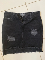 Used Superdry nini denim skirt size w24 in Dubai, UAE