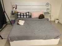 Used White Bedroom with four storage drawers in Dubai, UAE