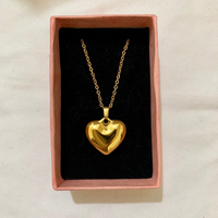 Used 18k gold plated necklace (heart) in Dubai, UAE