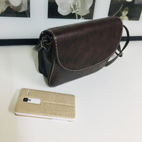 Leather sling bag brown