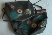 Used Desigual 2 pcs brown tote& cross in Dubai, UAE