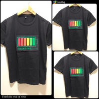 New 3Pcs LED T-shirt Size M