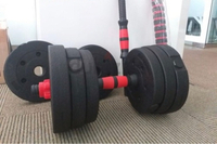Used Convertable Dumbell 30kg w/free gloves in Dubai, UAE