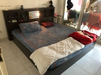 Used Queen Size bed with Lamp and Mattress  in Dubai, UAE