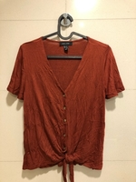 Used Brown tie front top in Dubai, UAE