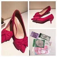 Used Pink shoes EU35 UK 3 with freebies  in Dubai, UAE