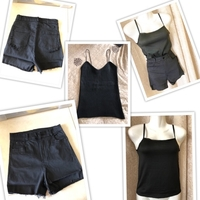 Used Tops 2 size S & black shorts size S in Dubai, UAE