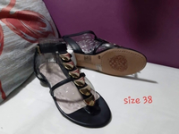 Used New Migato black sandal in Dubai, UAE
