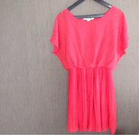 Used Coral pleated top from forever21 in Dubai, UAE