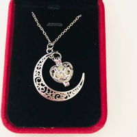Used Elegant Heart shaped luminous necklace  in Dubai, UAE