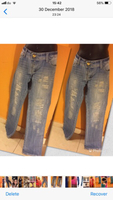 Branded ripped jeans waist30""