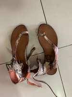 Used Sandals snake print 37 size in Dubai, UAE