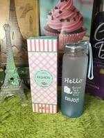 Used Hello Blue Glass Bottle in Dubai, UAE
