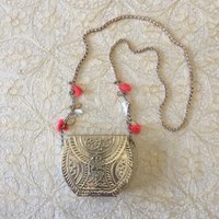 Used beautiful ornate metal bag in Dubai, UAE