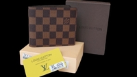 Used LV brown bifold wallet for men ID card  in Dubai, UAE