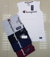 Used Champion sleeveless 5pcs Large in Dubai, UAE