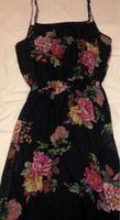 Used Black Floral dress Kotton in Dubai, UAE