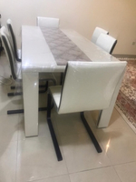 Used Dining table beige and brown  in Dubai, UAE
