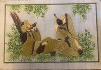 Used Leyla & Majnun painting on silk antique in Dubai, UAE