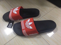 Used Adidas men's slippers size 43, new  in Dubai, UAE