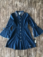 Used Bebe denim dress size 16 yers old in Dubai, UAE