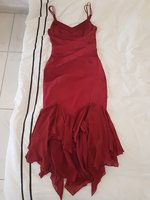 Used Red silk classic Karen Millen dress 10 in Dubai, UAE