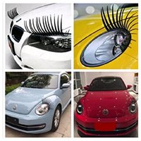 Car eyelashes cute decoration