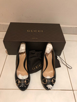 "Gucci heels 38""5 authentic black"