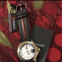 Curren Mens Leather Watch Brown