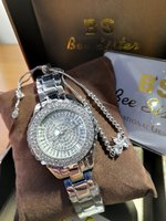 Used Bee Sisters Silver Watch with bracelet in Dubai, UAE