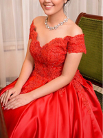 Used Red Prom Gown in Dubai, UAE