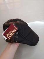 Used Men's Leather Beret dark brown NEW in Dubai, UAE