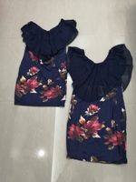 Used 2 floral dresses size M new in Dubai, UAE
