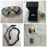 Used Ring + earrings + sunglass + Belt in Dubai, UAE