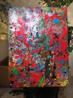 Used Acrylic abstract painting in Dubai, UAE