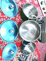 Used food stokpot new stainlesssteel 6 pieces in Dubai, UAE
