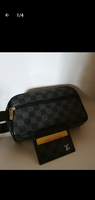 Used LV hand pouch and card holder in Dubai, UAE