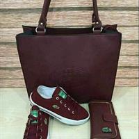 Lacoste Maroon Color Set Reduced Price ❤
