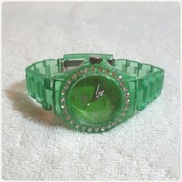 Watch for Her green London watch.