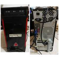 Used Old pc case + 2 ram + free keyboard in Dubai, UAE