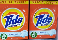 Used Tide washing powder 2.5kg two pieces in Dubai, UAE