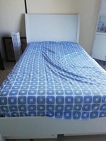 Used Queen size Bed (White) with 4 drawers  in Dubai, UAE