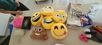 Used 7 Small smile cushions 40 aed in Dubai, UAE