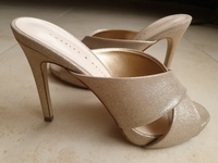 Used Charles & Keith Gold Strappy Mules in Dubai, UAE