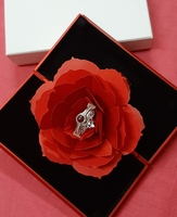 Used Love ring rose silver in Dubai, UAE