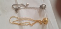 Used Gold and silver necklace 2 pcs in Dubai, UAE