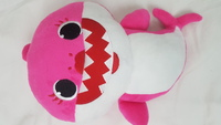 Used Singing Shark Plush Doll-Pink Baby Shark in Dubai, UAE