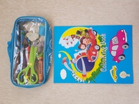 Used Pencil case with stationery and colourin in Dubai, UAE