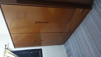 Used 4 door closet dark wood in Dubai, UAE